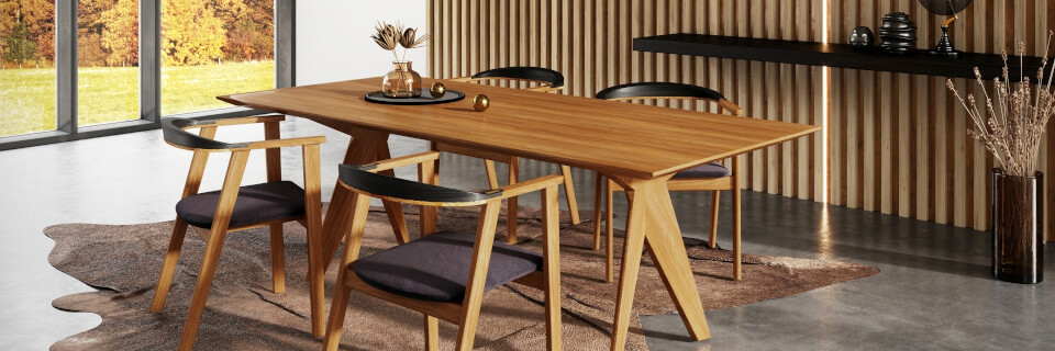 RADIX dining table and TAMMI chairs