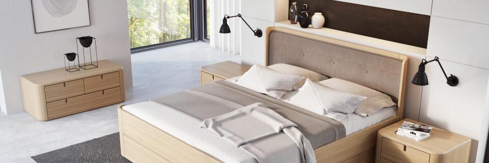 LARA bed and RAMINTA wardrobe
