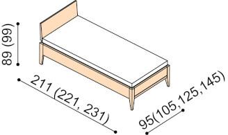 Bed MIA ZIRBE single bed