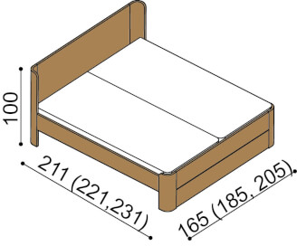 Bed LARA double bed