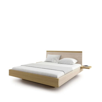 Bed AMANTA double bed with shelves