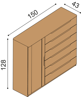 Chest of drawers FLABO 3DZ6
