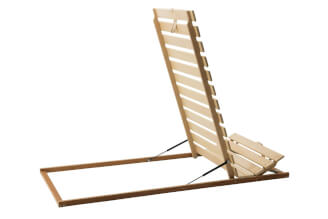 Tilting bed base MAX, from legs, positioning of head