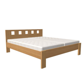 Bed DALILA double bed high version, rectangular cutouts