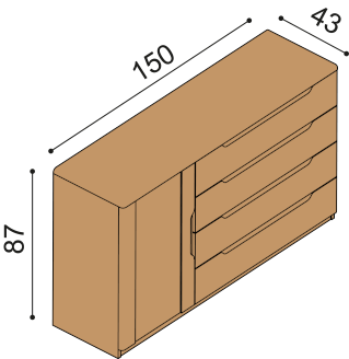 Chest of drawers FLABO 3DZ4