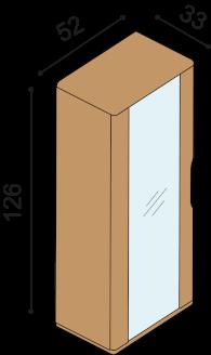 Bookcase FLABO FLK1S6