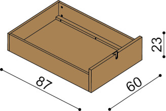 Drawers under the bed BRUNO (3 pcs)