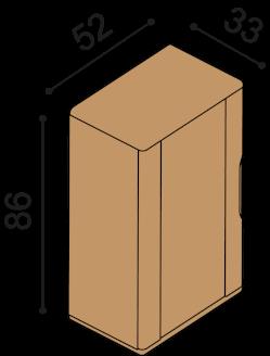 Bookcase FLABO FLK1D4