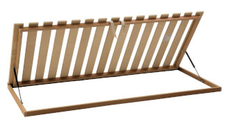 Tilting bed base MAX, from side