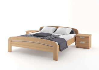 Bed GABRIELA double bed with round foot-board