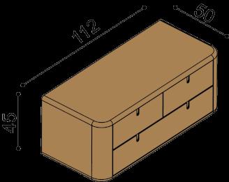Chest of drawers LARA