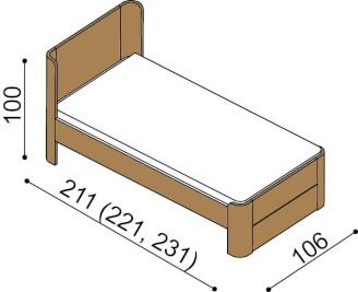 Bed LARA single bed