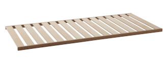 Lath bed frame without metal