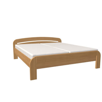 Bed GABRIELA double bed with straight foot-board