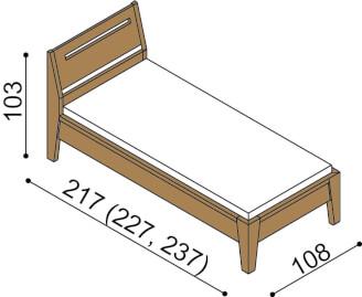 Bed RACHEL single bed