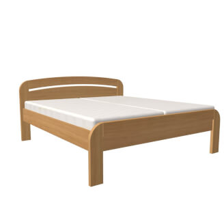 Bed GABRIELA PLUS double bed with straight foot-board