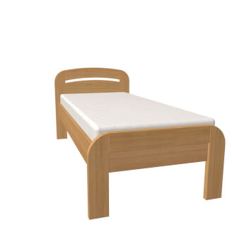 Bed GABRIELA PLUS single bed with straight foot-board