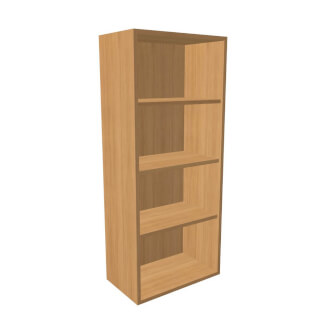 Bookcase opened K1 without plinth