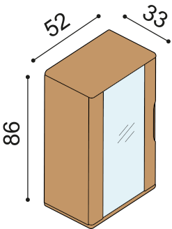 Bookcase FLABO FLK1S4