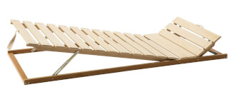 Positioning bed frame - head and body