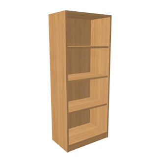 Bookcase opened KS1 with plinth