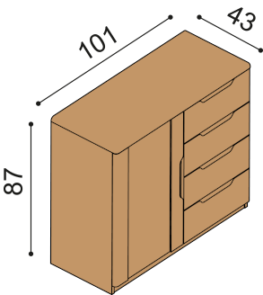 Chest of drawers FLABO 2DZ4