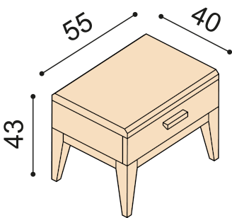 Bedside table MIA ZIRBE