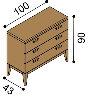 Chest of drawers MIA 2Z3