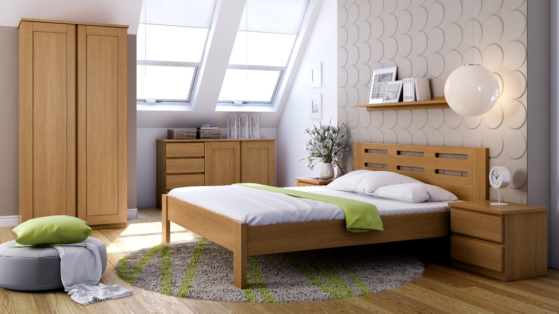 NOVINKA - posteľ z masívu