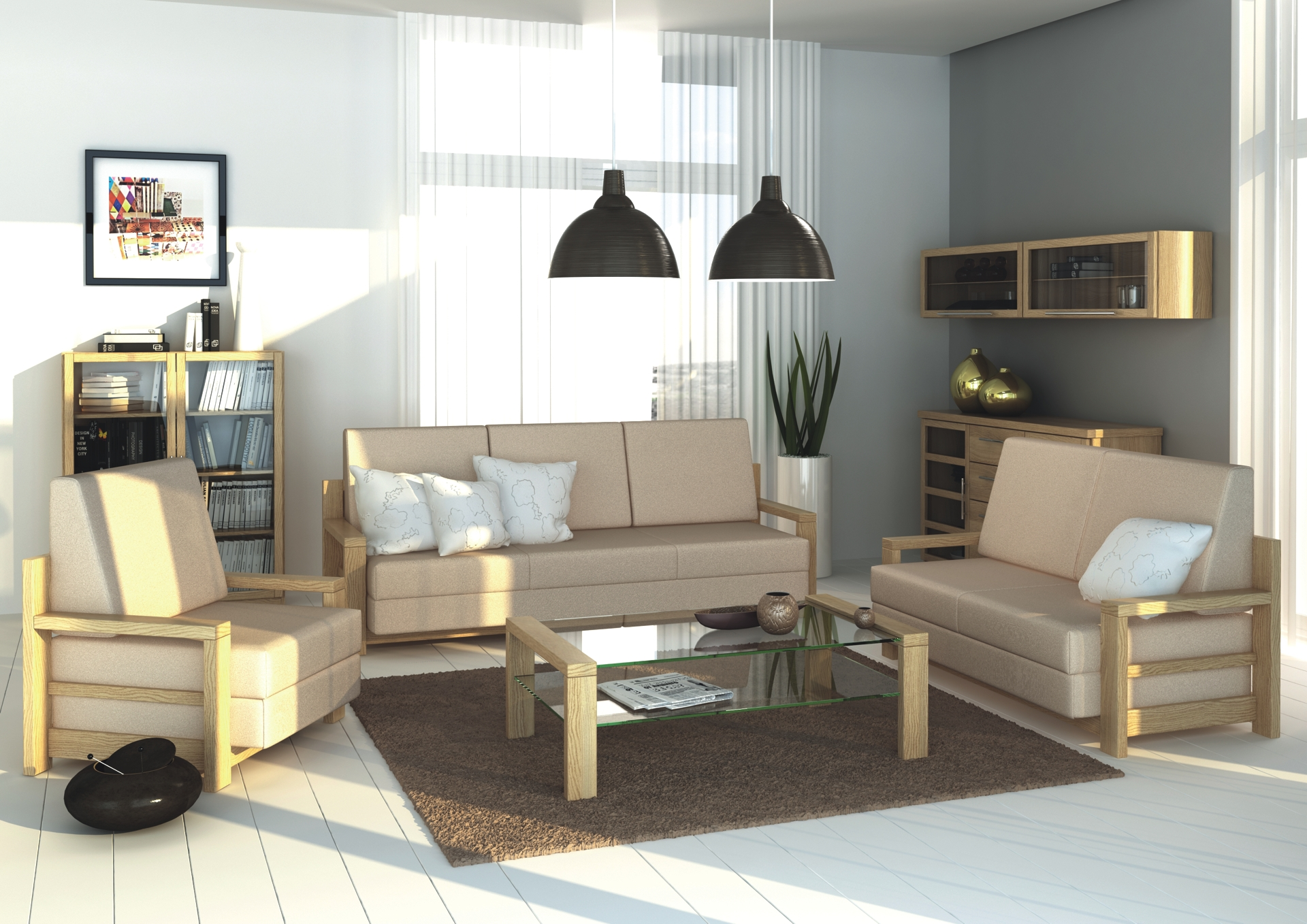 RÁCHEL sofa set - elegant sofa and comfortable bed for a guest