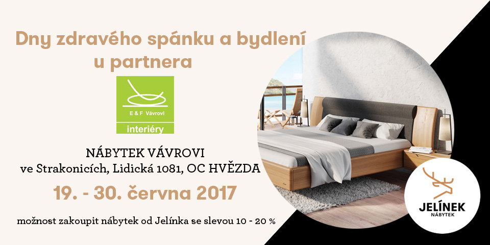 Dni značky JELÍNEK u partnera NÁBYTOK Vavro