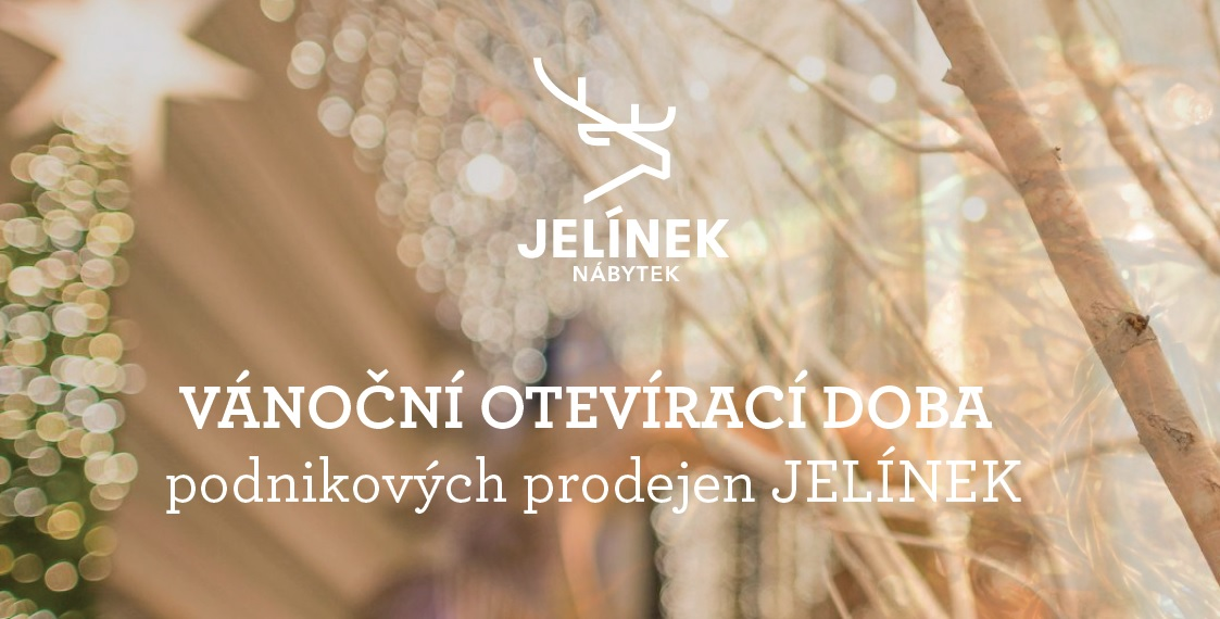 Christmas opening hours of JELÍNEK corporate stores