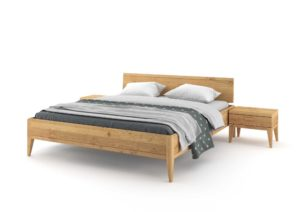 Bed MIA 180x200 made of solid oak from the company JELÍNEK nábytek